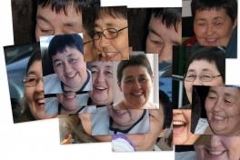 Collage med Johanne