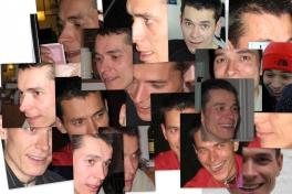 Collage med Klaus