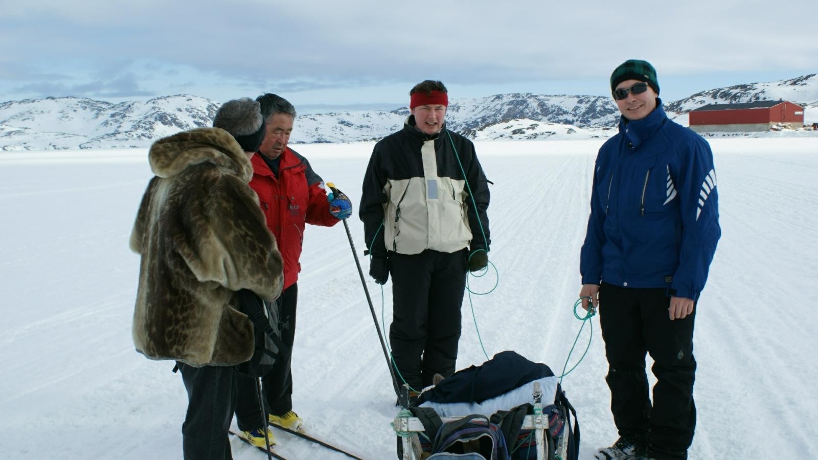 2009-04-05-1419_-_Jesper Eugenius Labansen; Qupanuk Eugenius Labansen; Ruth Labansen; Søren Labansen