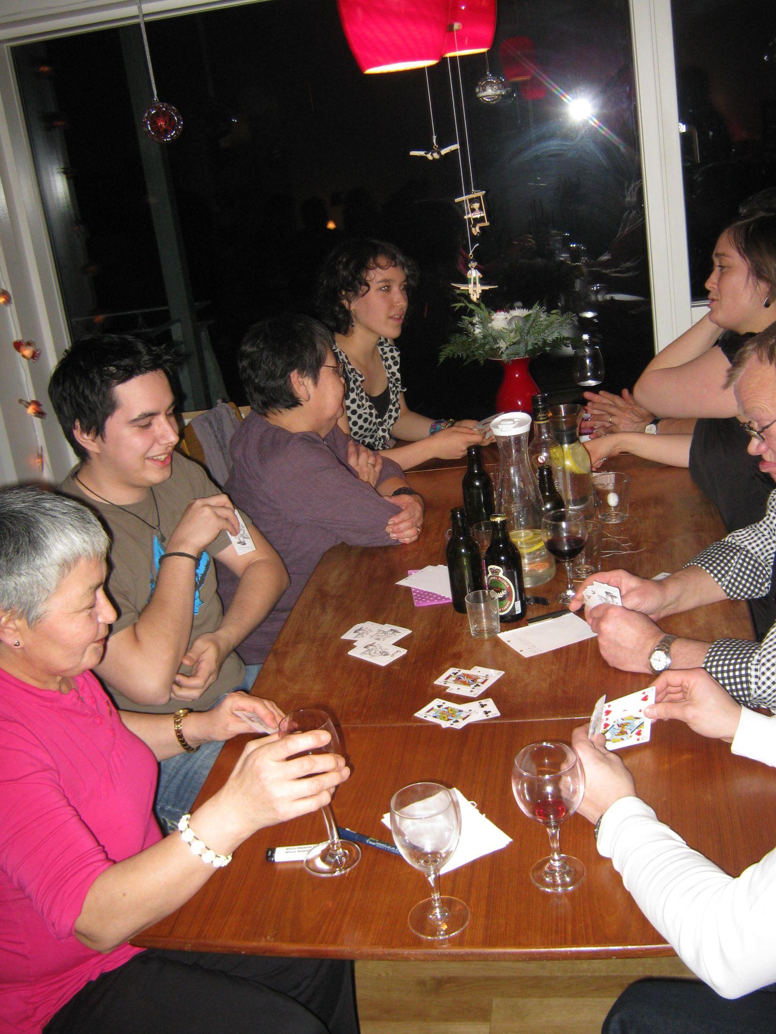 2009-12-26-1715_Hansigne Labansen; Ivalo Lynge Labansen; Maritha Eugenius Labansen; Martin Labansen; Worms