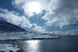 2010-03-23-1254_Inderste af bugten i Qinnqorput med både_Nuuk; Udsigt i Nuuk