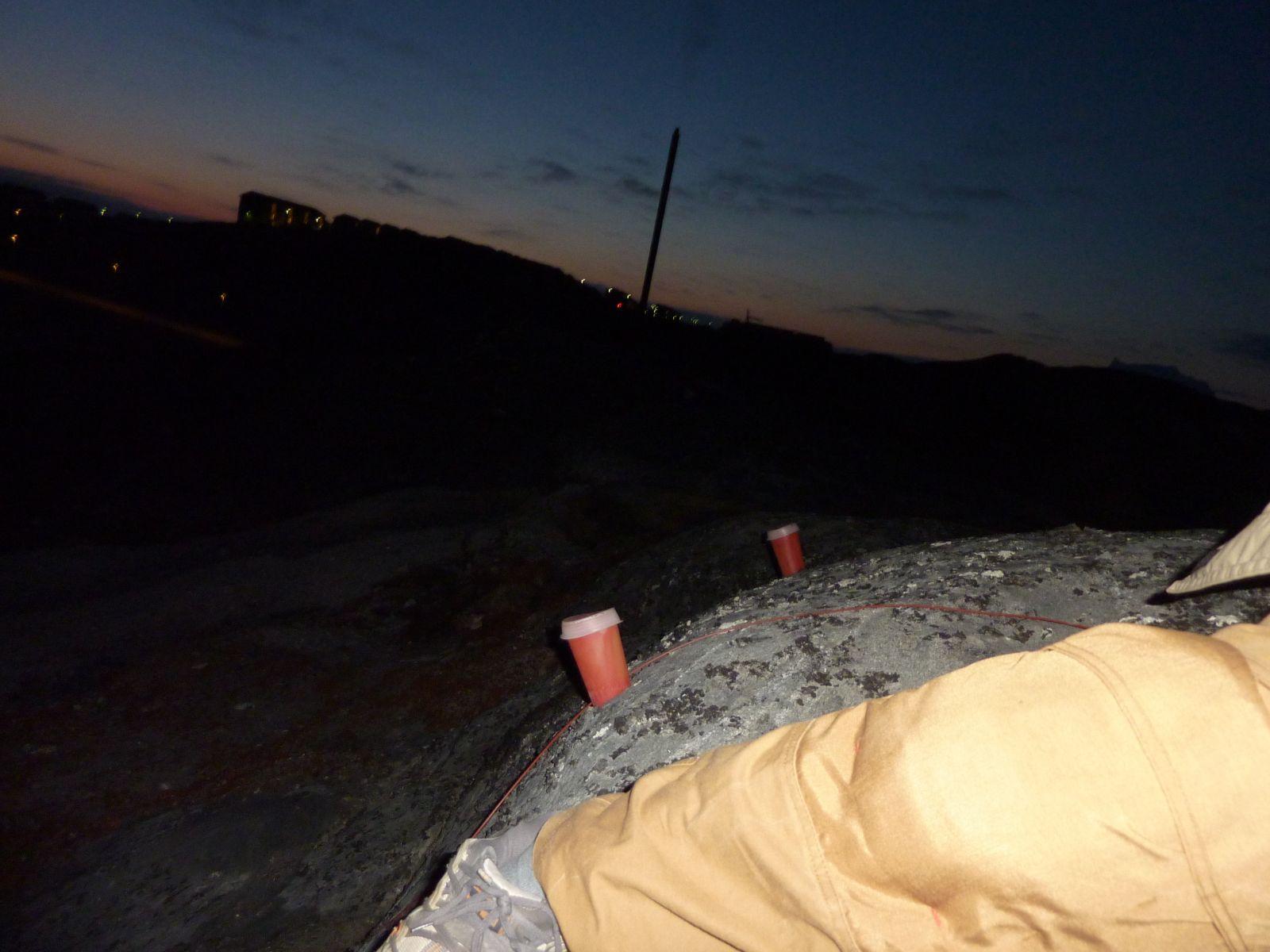 Aftentur med vindstille og solnedgang