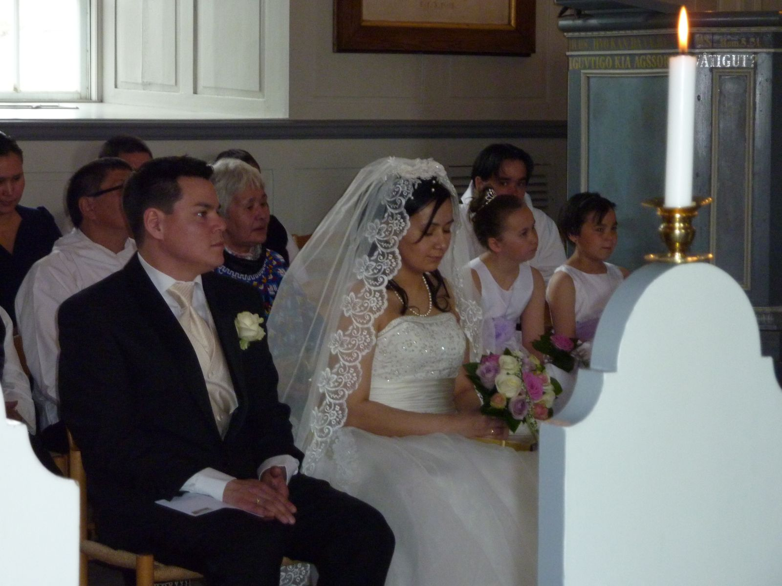 Niels Erik Kristiansen og Ulla's bryllup i kirken