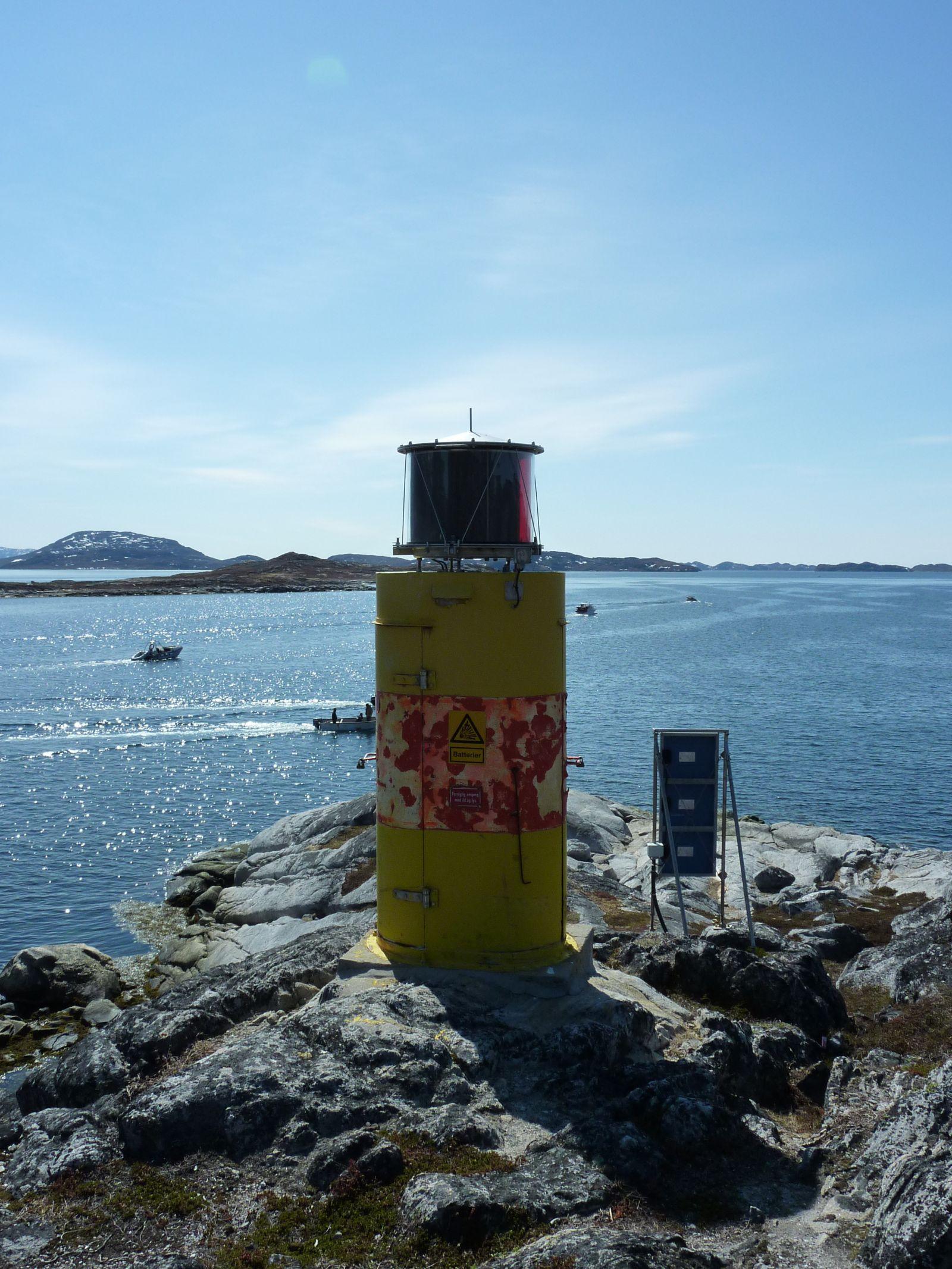 Fyr ved indsejlingen i Nuuk havn