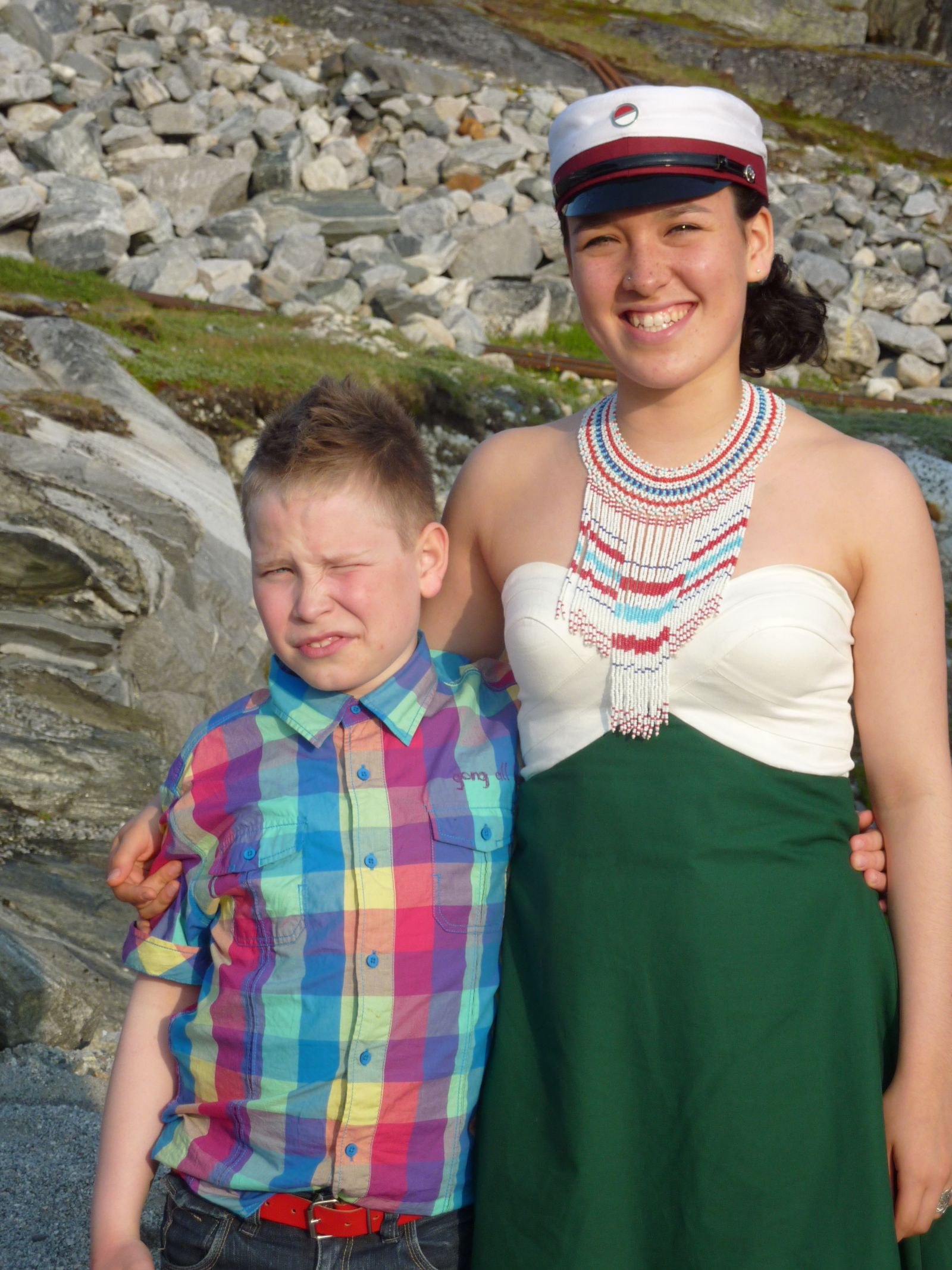 Dimissionsfest i Nuuk Ivalo Lynge Labansen og Rumle Labansen