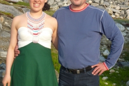 Dimissionsfest i Nuuk Peter Lynge Petersen og Ivalo Lynge Labansen
