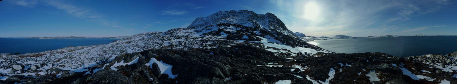 Panorama - Storemalene og Nuuk set fra Lillemalene