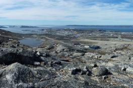 Nuuk, Nordlandet og lufthavnen set fra Lillemalene