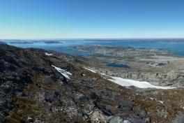 Nuuk og lufthavn fra Lille Malene