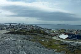 Fra topen over Tele - udsigt over Nuuk - radiofjeldet osv.