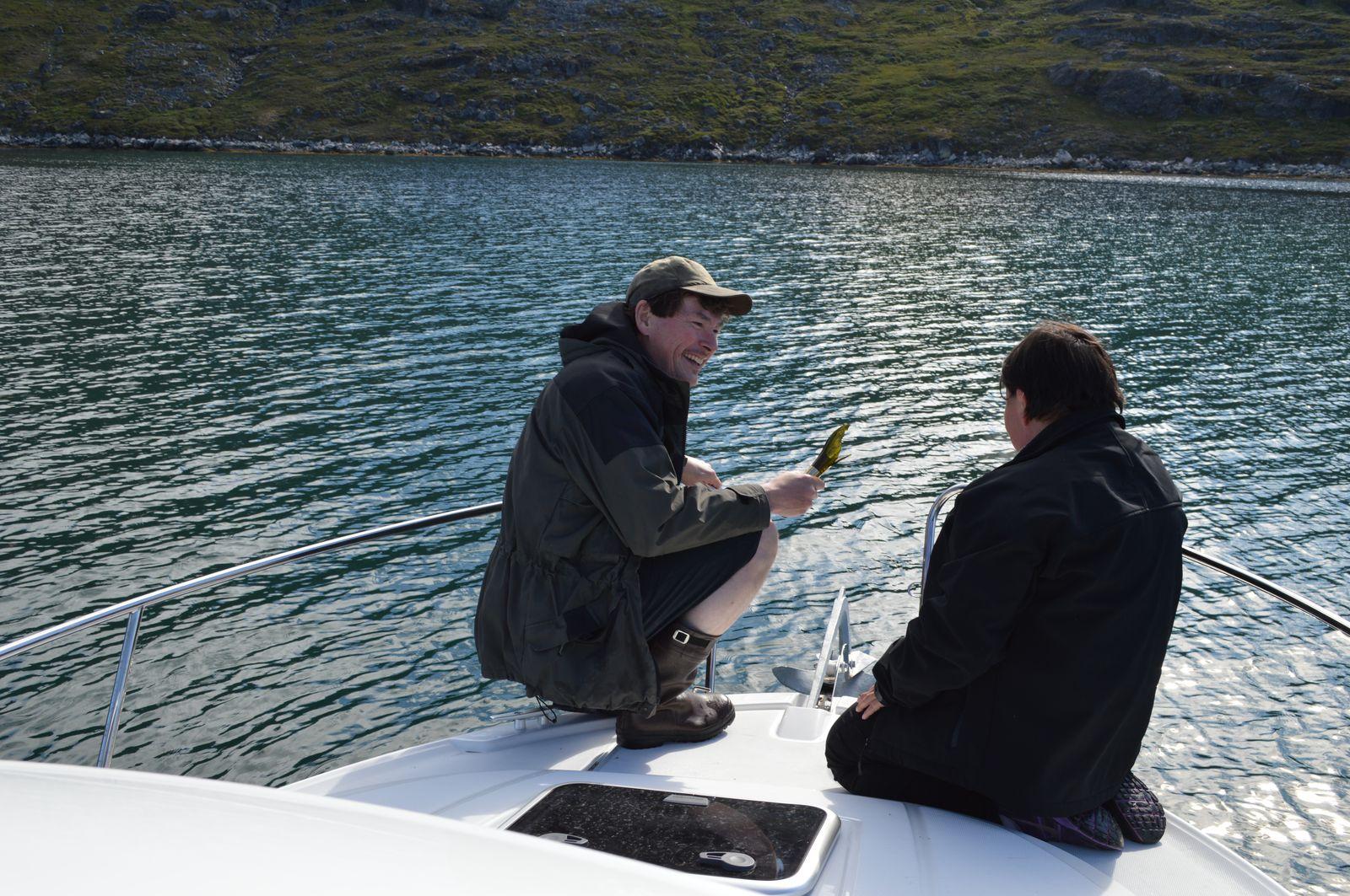 Maru døbes i champagne