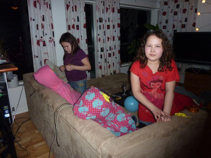 Alma og Bea laver udstoppede figurer