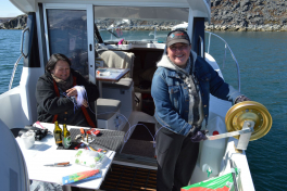 Sejltur til Tasiussarsuaq - snellen monteres