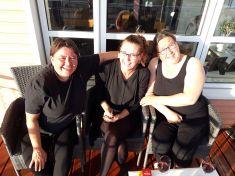Middag med Helene og Marianne