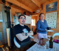 Weekend i Mari og Jonathans hytte i Qoorqut