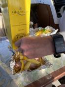 Miniferie i Qarajat Iluat. Kylling grillpakker samles